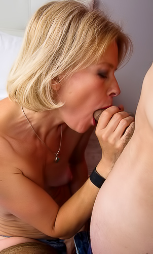 Amazing mature Diana Gold teaching her stepson to fuck